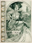 Alphonse Mucha- Original Bosnian house booklet Cover for the ''Exposition universelle''of 1900