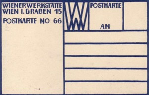 Blue Verso used on postcards 11-104 produced in the first year, 1907.