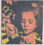 Koloman Moser- Mädchen in Rosen3 -1898