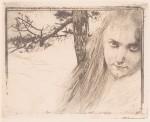 Koloman Moser - Mädchen in Landschaft -1898