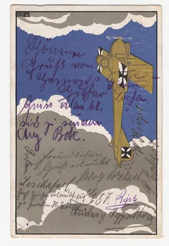 Czeschka- Alte Werbekarte, farbig 1916 -