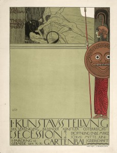 Gustav Klimt Poster for the First Secession exhibition.