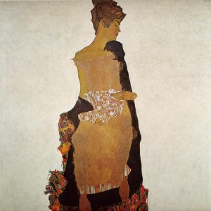 Portrait of Gerti Schiele- by Egon Schiele. Oil on Canvas. 1909
