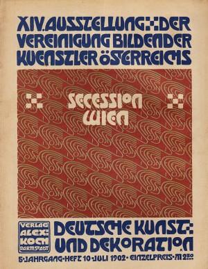 Wiener werkstätte exhibition poster by Josef Hoffmann.