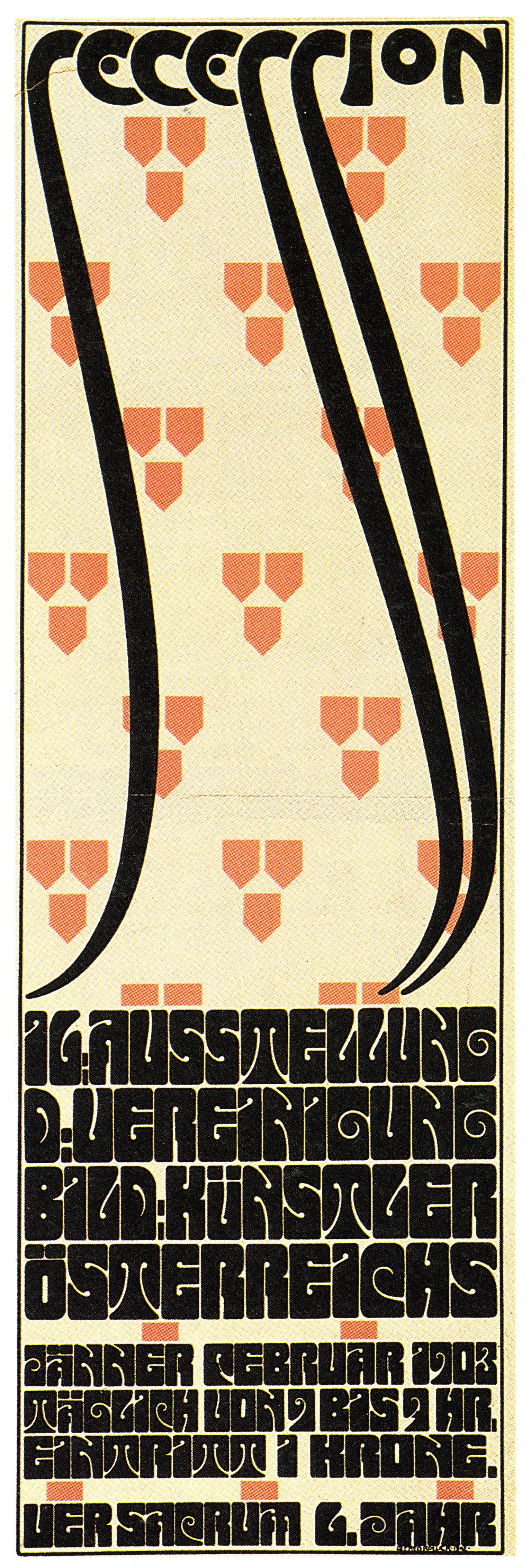vienna secession  sixteenth exhibition  poster