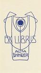 Josef Hoffmann- Exlibris Alma Schindler, um 1901, Klischee