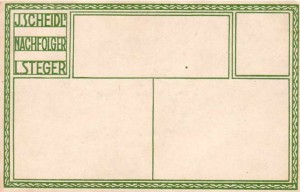 Verso used for cafe-restaurant cards (#408-412, 486-490)