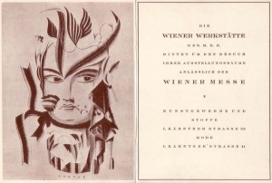 Invitation to Vienna fair 1921 by Dagobert Peche