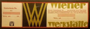 Wiener-Werkstatte printed label or coupon