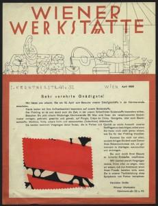 Wiener Werkstätte advertising , I. Kärntnerstr. 41 v. 32, Wien, April 1928