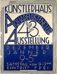 Ausstellung (Kunst), Aquarellistenclub 43. Ausstellung, 1928.12-1929.01, Wien