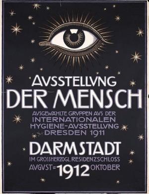 Franz Stuck-Ausstellung_Der_Mensch_exhibition_poster,_color_lithograph,_1912,_Daulton_Collection