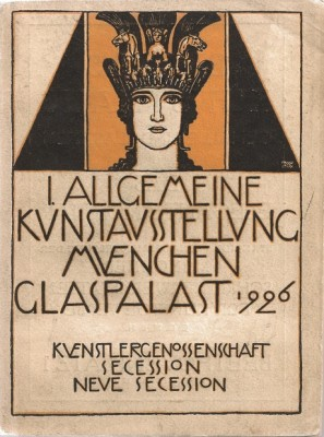 Franz Stuck-Kunstausstellung_Muenchen_Glaspalast,_1926,_bookcover_for_exhibition_catalog,_Daulton_Collection