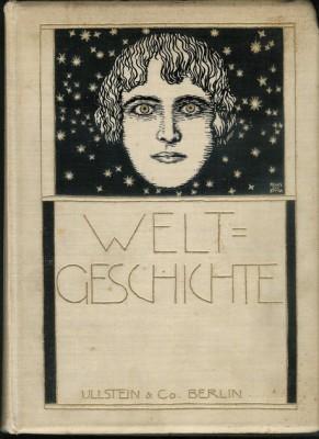 Franz Stuck- Welt_Geschichte,_book_cover,_1908,_Daulton_Collection