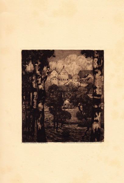 Etching, Oskar Graf, Vienna Secession, Art Nouveau, Koloman Moser, Kolo, Jugendstil, Graphic Design, Austrian, Gustav Klimt