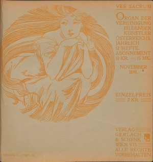 1898- Heft 11. Cover by Alphonse Mucha