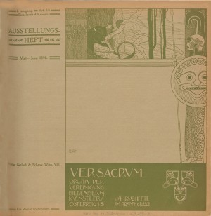 1898-heft 5/6 (Double Issue)  Cover by Gustav Klimt.
