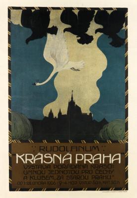 """JAN KONUPEK (1883-1950) RUDOLFINUM / """"KRÁSNÁ PRAHA."""" 1906."""