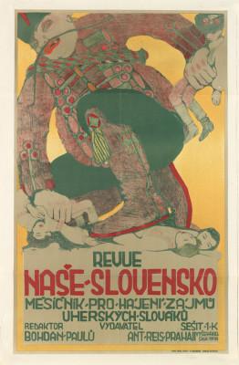 FRANTIŠEK KYSELA (1881-1941) REVUE NAŠE - SLOVENSKO. Circa 1907.