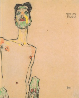 Egon Schiele- Portrait of mime Van Osen, 1910.