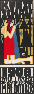 Rudolf Kalvach- Poster for the Kunstschau, 1908. Image from the collection of Leopold Museum, Vienna.