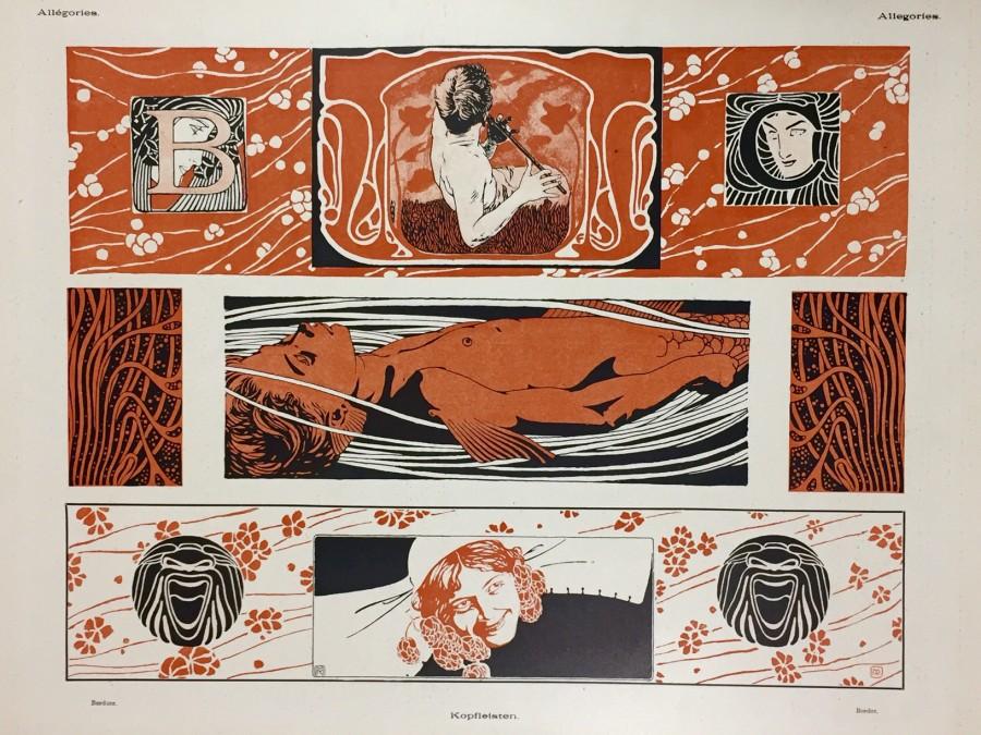 Koloman Moser, Gerlach's Allegory, Art Nouveau, Secession. Jugednstill, prints, lithograph, poster