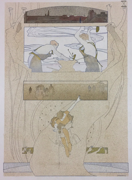 G.th Kempf, Gerlach's Allegory, Art Nouveau, Secession. Jugednstill, prints, lithograph, poster