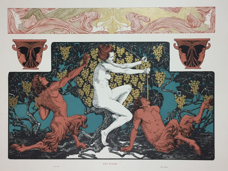 Wilhelm List, Gerlach's Allegory, Art Nouveau, Secession. Jugednstill, prints, lithograph, poster